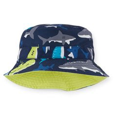 Toddler Boy Reversible Shark Print Bucket Hat | Carters.com