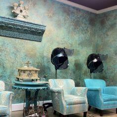 Stylish Beauty Salon. #hairsalon #salon #blue