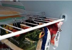 Keep your freezer tidy and stop stray frozen peas escaping by clipping the bags to the she...