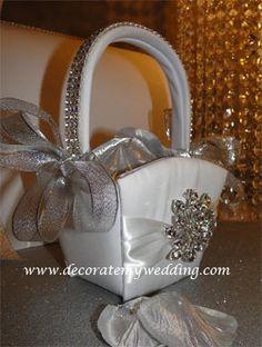 Rhinestone Flower Girl Basket & Mini Princess Tiara