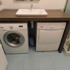 waschk che schrank aus ulme mit integriertem waschbecken. Black Bedroom Furniture Sets. Home Design Ideas