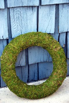 pottery barn moss wreath do it yourself diy craft project spring decorations ideas