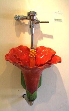 Lotus blossom urinal