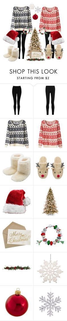 """matching Christmas sweaters with your best friend"" by ary-polyvore-outfits ❤ liked on Polyvore featuring M&S Collection, Donna Karan, M&Co, Bling Jewelry, Kurt Adler, women's clothing, women, female, woman and misses"