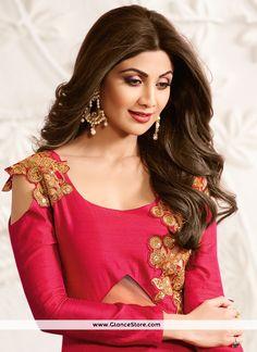 Shilpa Shetty Embroidered Work Designer Suit