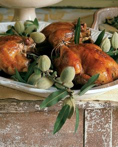 roast poussin with prunes and thyme christmas entreeschristmas ideaschristmas disheschristmas