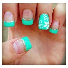 28 Unique lovely Summer Nail Art Ideas ❤ liked on Polyvore featuring beauty products, nail care and nail treatments