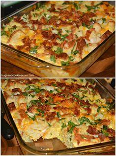 Bacon egg casserole