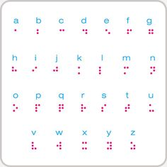 prinable braille alphabet | ... our name in braille check out braille bug to learn more about braille