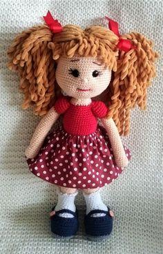 Crochet Dolls Free Patterns, Crochet Toys, Knit Crochet, Crochet For Kids, Doll Toys, Teddy Bear, Christmas Ornaments, Knitting, Holiday Decor