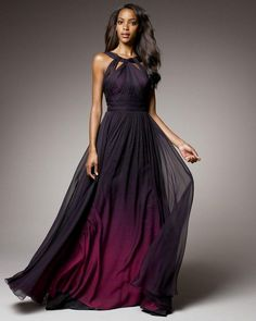 black and purple ombre gown | Cotillion/Prom Dresses | Pinterest ...