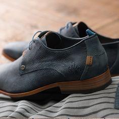 REHAB Greg Wall Indigo #rehabfootwear #indigo #classicfootwear #blue #buffalo #leather