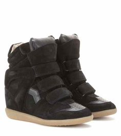 Étoile Bekett leather and suede wedge sneakers | Isabel Marant