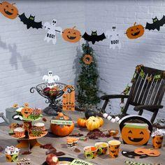 Halloween banderole citrouille fantôme chauve souris decoration www.laboutiquedejuliette.com