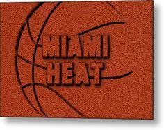 Heat Metal Print featuring the photograph Miami Heat Leather Art by Joe Hamilton