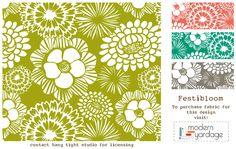 Festibloom © Heather Dutton - Hang Tight Studio #fabric #modernyardage