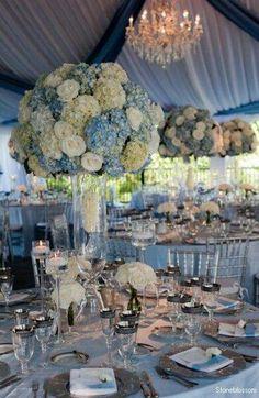 Baby Blue Wedding Decor Flower Centerpieces Arrangements