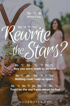 Rewrite the Stars – The Greatest Showman letter notes for beginners - music notes for newbies