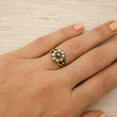 Image result for pearl flower ring