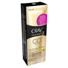 EWG's Skin Deep® Cosmetics Database Rating for Olay Total Effects 7 in One Pore Minimizing CC Cream, Fair to Light formulation). Cc Cream For Oily Skin, Underarm Whitening Cream, Skin Whitening, Best Cc Cream, Broad Spectrum Sunscreen, Best Moisturizer, Lip Care, Oils For Skin, Light Skin