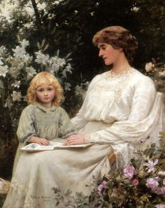 pintura de Edwin Harris William Adolphe Bouguereau, Reading Art, Woman Reading, Literary Girl Names, People Reading, Children Reading, Munier, Books To Read For Women, Oil Painting Reproductions