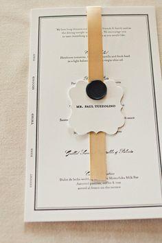 Weddings - Dinner menus at a wedding