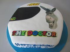 Valentino rossi and Donkey cake