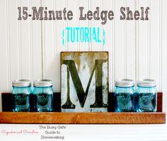 15-Minute DIY Ledge Shelf! make a narrow version for kids book display