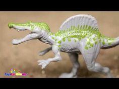 Videos de Dinosaurios para niños Spinosaurios Las Mejores Luchas de Dinosaurios de Juguete
