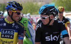Alberto Contador and Chris Froome Heathrow Airport Terminal 5, Chris Froome, Blood Sweat And Tears, Pro Cycling, Sports Stars, Dream Team, How To Raise Money, Captain Hat, Tours