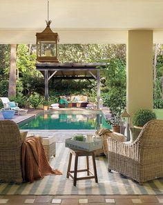 Las Cositas de Beach & eau: VERDE Y CON OLOR A CAMPO....una casa vista en la revista EL MUEBLE...............