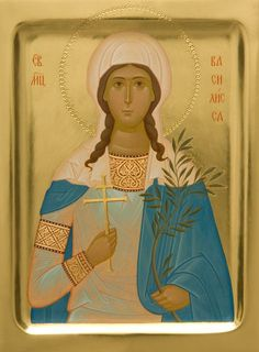 This handpainted icon of Saint Basilissa is handpainted in strict adherence to the canons of the Orthodox Church. You can order a painted icon of St Basilissa in the Catalog of St Elisabeth Convent Russian Icons, Best Icons, Byzantine Icons, Painting Studio, Religious Icons, Orthodox Icons, Gold Paint, Christianity, Saints