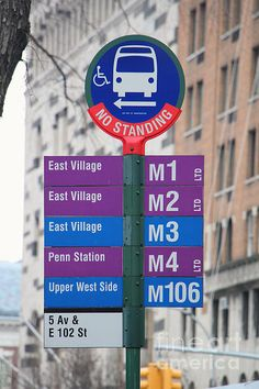MTA Bus Stop Sign in New York City. Buy fine art canvas prints, framed prints, acrylic or metal prints of New York City photos by Nishanth Gopinathan. Perfect as wall decor for your home or office.
