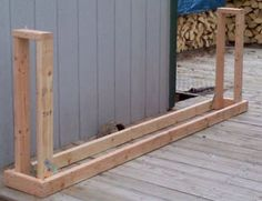 Free Firewood Rack Plan - easy to build for under $30. Holds 3/4 ...