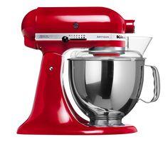kitchenaid artisan küchenmaschine empire rot + zubehör