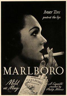 It's just a cigarette and it's marlboro light ! #vintage #advertising #Marlboro