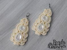 Beads Antistres soutache earing (wedding)..5/2018