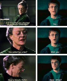 Props to Professor McGonagall.