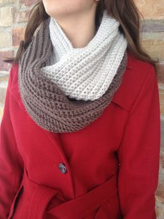 """Infinity Scarf  """"Birch and Oak"""" available On Etsy! By WillowandCloves!  Handmade #Infinityscarf   $35.00!"""