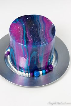 How to make a galaxy mirror cake and perks of being an amateur baker - Simple In. How to make a galaxy mirror cake and perks of being an amateur baker - Simple In. How to make a galaxy mirror cake and perks of being an amateur baker - Simple Indeed. Galaxy Desserts, Mirror Glaze Cake, Mirror Cakes, Galaxy Cake, Cupcake Cakes, Cupcakes, Glaze Recipe, Almond Cakes, Gluten Free Chocolate