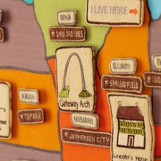 Road Trip Soft Wall Map | The Land of Nod