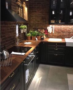 20 Impressive Kitchen Cabinet Design Ideas For Your Inspiration Modern Kitchen Cabinets Cabinet Design Ideas impressive Inspiration Kitchen Farmhouse Kitchen Decor, Home Decor Kitchen, Diy Kitchen, Kitchen Interior, Kitchen Wood, Kitchen Ideas, Exposed Brick Kitchen, Kitchen Modern, Brick Wall Kitchen
