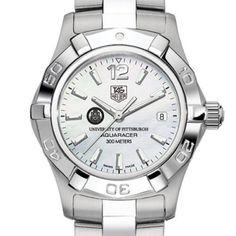 University of Pittsburgh TAG Heuer Watch - Women's Steel Aquaracer Watch. Price: $1995.00