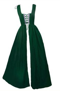 Renaissance Medieval Irish Costume Hunter Green by ReminisceShoppe