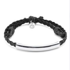 ADJUSTABLE single strand black leather bracelet expands up to HANDCRAFTED in the USA by our local artisans in San Diego California STACKABLE with other bracelets from the Joy Collection by Lizzy James SILVER plated and coated metal crescents Wish Bracelets, Bracelets For Men, Fashion Bracelets, Engraved Bracelet, Bracelet Set, Silver Charm Bracelet, Silver Bracelets, Silver Earrings, Bangles