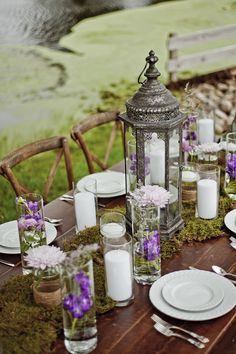 Rustic Tablescape at Outdoor Reception