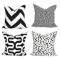 Black Geometric pattern custom cushion cover