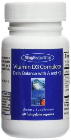 Vitamin D3 Complete Daily Balance with A and K2, 60 fish gelatin capsules * Check out the image by visiting the link. (This is an Amazon Affiliate link and I receive a commission for the sales)