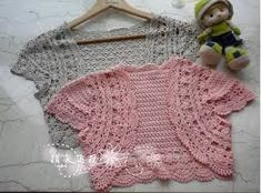 Image result for crochet shrug pattern for little girls
