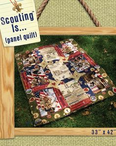 Scouting Is... Panel Quilt - Free Pattern.  www.AlderwoodQuilts.com